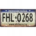 Tin license plate - Pennsylvania