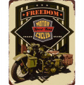 Metal hanging sign - Freedom - Military motorcycle