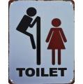 Metal hanging sign - Toilet