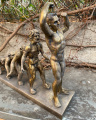 Statue of The Evolution of man made of resin