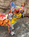 Polyresin statuette of a graphic French bulldog Graffiti