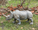 Polyresin figurine of a rhino