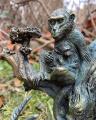 Polyresin statuette of monkey, antelope, giraffe