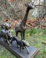 Statue of Animals - The Big Five made of resin