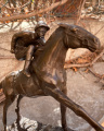 Bronze Statuette - Rider and Horse