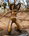 Erotic bronze statuette of a naked sexy woman 1