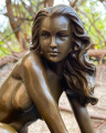 Erotic bronze statuette of a naked sexy woman 3