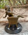 Erotic bronze statuette of a naked sexy woman on a chair 2