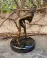 Erotic bronze statuette of a standing naked woman 2