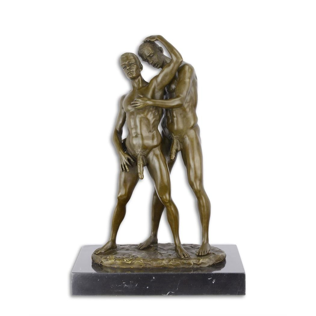 Erotic bronze statuette of naked men - Gays - LGBT 2